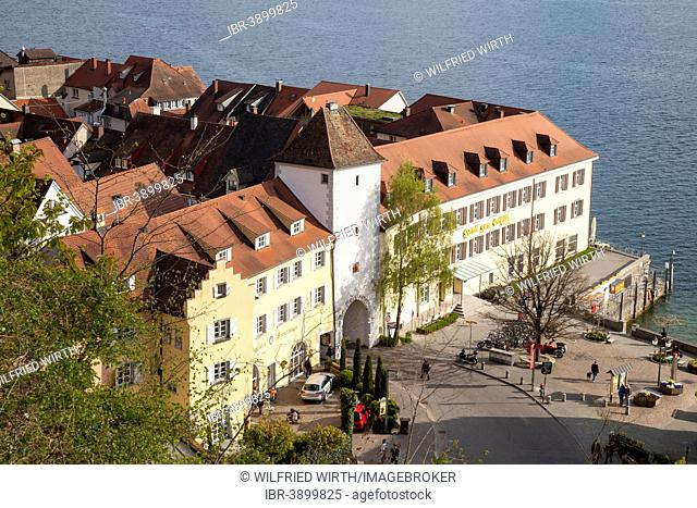 Lower Town with Unterstadttor Gate, Meersburg, Lake Constance, Baden-Württemberg, Germany