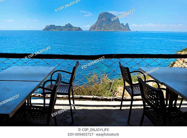 Es Vedra Cala d\'Hort, Ibiza Spain