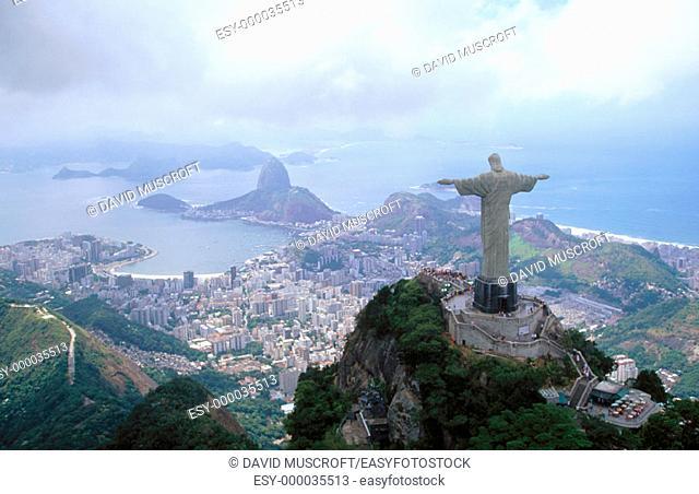Statue of Christ the Redeemer. Corcovado Mountain. Rio de Janeiro. Brazil
