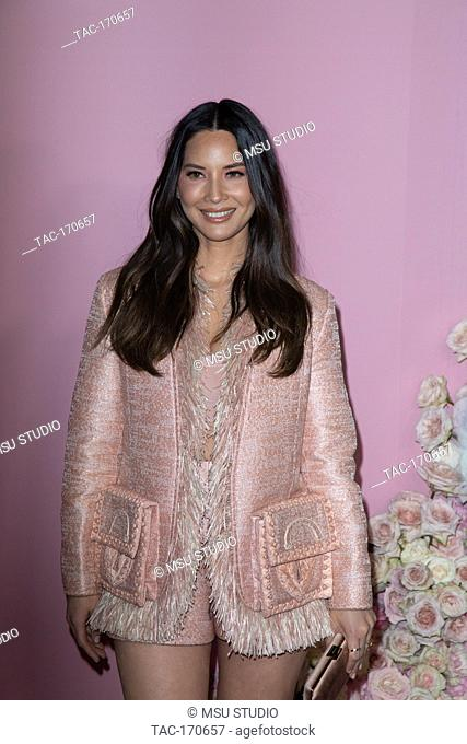 Olivia Munn attends the launch of Patrick Ta's Beauty Collection at Goya Studios on April 04, 2019 in Los Angeles, California