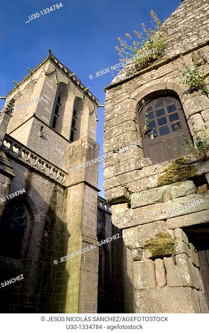 St Ronan church in the small town of Locronan, in the Finistere department  Brittany  France