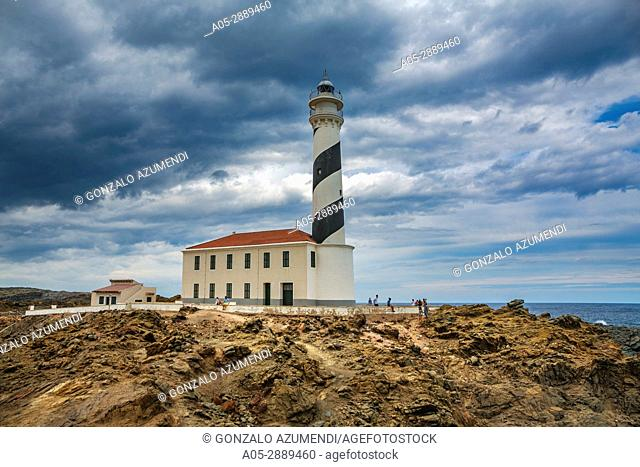 Favaritx Lighthouse. S'Albufera d'Es Grau Natural Park. Maó Municipality. Minorca. Balearic Islands. Spain