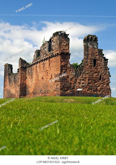 England, Cumbria, Penrith. The ruins of Penrith Castle, once a royal fortress for Richard, Duke of Gloucester before he became King Richard III in 1483