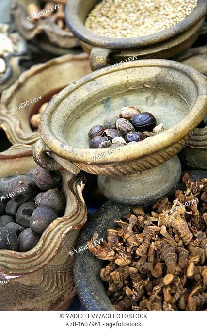 Spices in the souq, Aqaba, Jordan