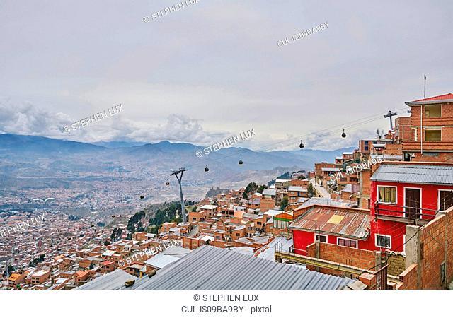 Rooftop cityscape, El Alto, La Paz, Bolivia, South America