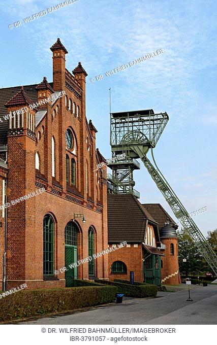 Disused coal mine, Zollern II/IV Colliery, Boevinghausen, Dortmund, North Rhine-Westphalia, Germany