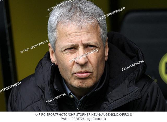 firo: 13.04.2019, football, 1.Bundesliga, season 2018/2019, BVB, Borussia Dortmund - FSV FSV FSV Mainz 05, Lucien FAVRE, head coach, BVB Borussia Dortmund