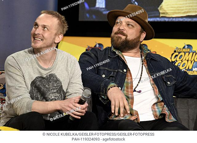 Robin Lord Taylor and Drew Powell at the 5th German Comic Con Dortmund 2019 in the Westfalenhallen. Dortmund, 13.04.2019 | usage worldwide