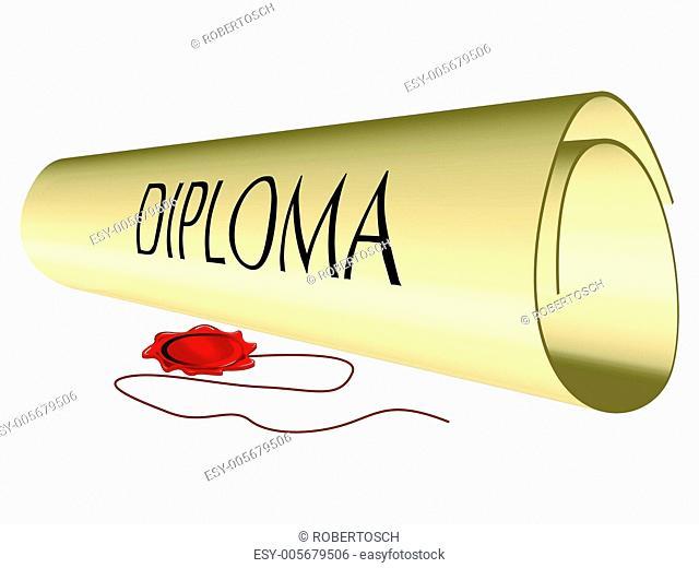 diploma and wax seal