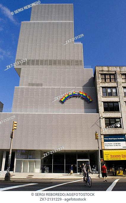 Exterior of New Museum of Contemporary Art in Manhattan New York City USA. New Museum of Contemporary Art 235 Bowery. Tel 212-219-1222