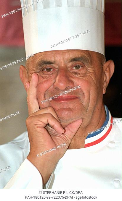 An archive photo from 21 Septermber 1998 shows French chef Paul Bocuse, who recently died at age 91. Photo: Stephanie Pilick/dpa. - --/Germany