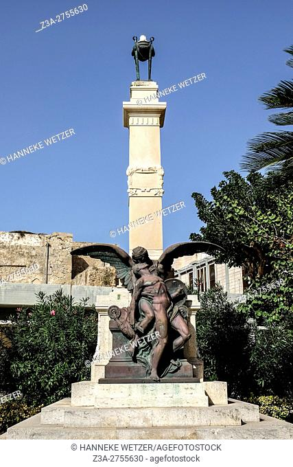 Municiple of Trapani statue in Trapani, Sicily, Italy, Europe
