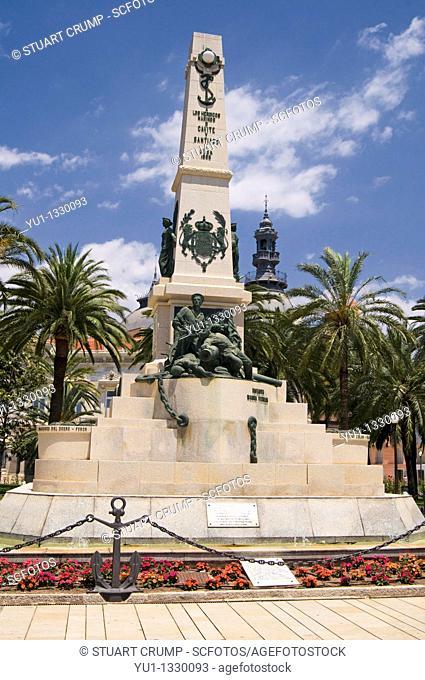 The Monument de los Heroes de Cavite  Plaza Ayuntamiento Cartagena, Spain