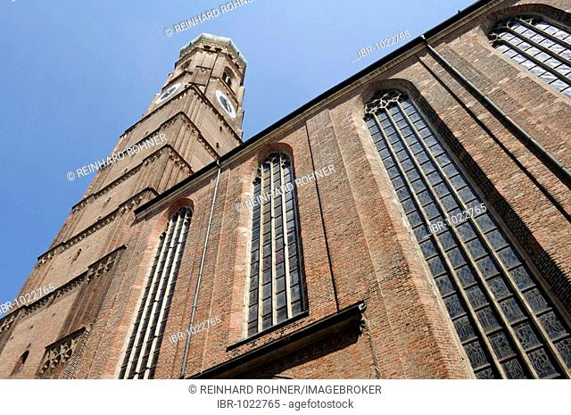 Tower of the Frauenkirche Church, Munich, Bavaria, Germany, Europe