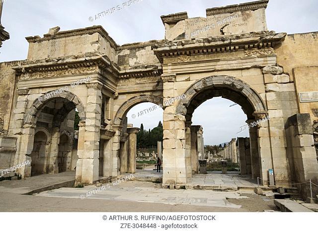 Gate of Mazeus and Mythridates. Ephesus, UNESCO World Heritage Site, Selçuk, Izmir Province, Ionia Region, Turkey, Eurasia
