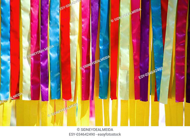 Festive colored ribbons carnival