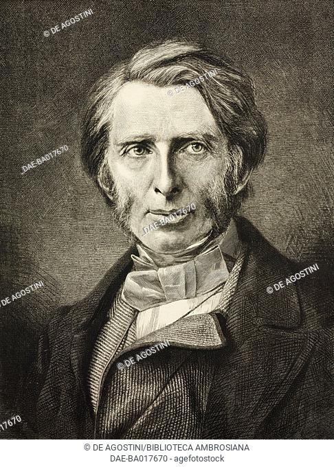 Portrait of John Ruskin (1819-1900), English writer and art critic, illustration from the supplement to the magazine The Graphic, July 5, 1879