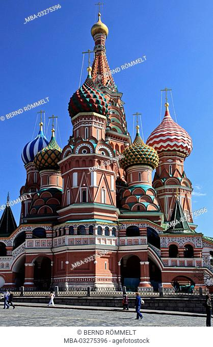 Europe, Russia, Moscow, red square, Basilius Kathedrale