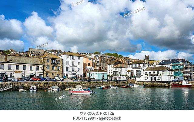 Custom House Quay and North Quay, Falmouth, Cornwall, England, UK