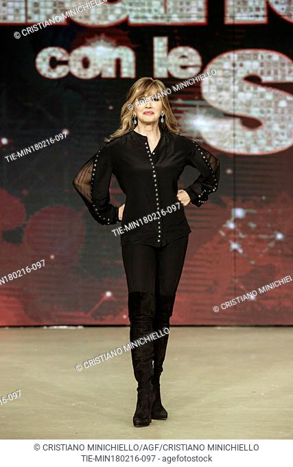 The presenter Milly Carlucci during the photo call of tv show ' Dancing with the stars ', Rome, ITALY-18-02-2016