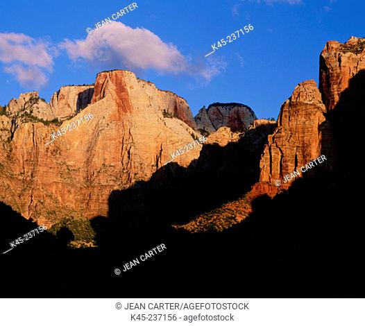 Towers of the Virgin. Zion National Park. Utah. USA