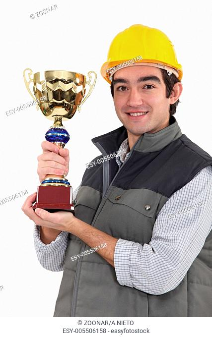 Builder trophy Stock Photos and Images | age fotostock