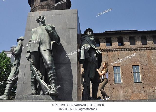 Turin, Italy: monument to Emanuele Filiberto Duca d'Aosta in Piazza Castello