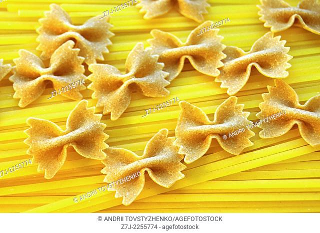 background of pasta