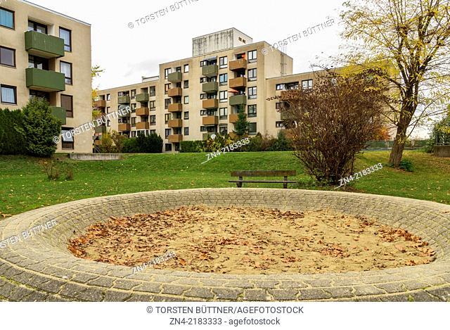 Socially Underprivileged District Noitzmühle in Wels. Austria