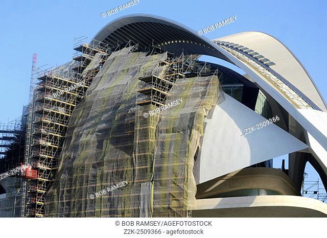 Palau de les Arts Reina Sofia in construction, Valencia, Spain