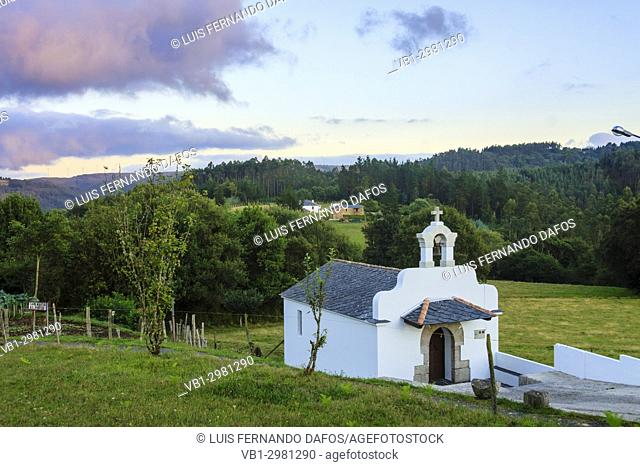 Small chapel at the country side in Mañón, Coruña province, Galicia, Spain, Europe