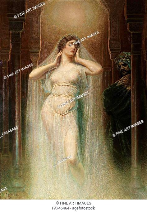 Kundry by Egusquiza y Barrena, Rogelio de (1845-1915)/Oil on canvas/Symbolism/1906/Spain/Museo del Prado, Madrid/240x180/Opera, Ballet, Theatre,Mythology