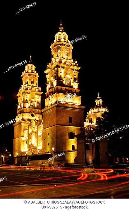 Baroque cathedral, Morelia, Michoacan, Mexico