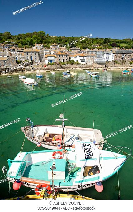 The pretty fishing village of Mousehole near Newlyn in Cornwall, UK
