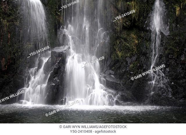ceunant mawr waterfall in Llanberis north wales great britain uk
