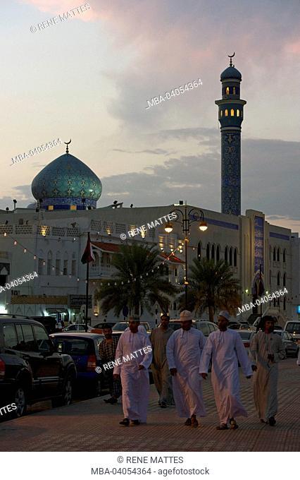 Sultanate of Oman, Muscat, Muttrah corniche, persian style mosque