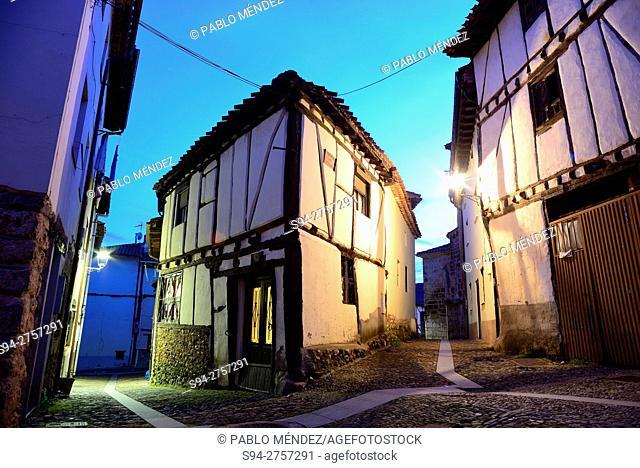 Framework houses in the center of Covarrubias, Burgos, Spain
