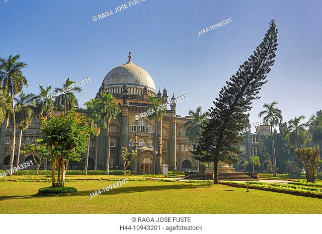 India, South India, Asia, Maharashtra, Mumbai, Bombay, City, Prince of Wales Museum, Prince of Wales, architecture, British, colonial, famous, garden, museum