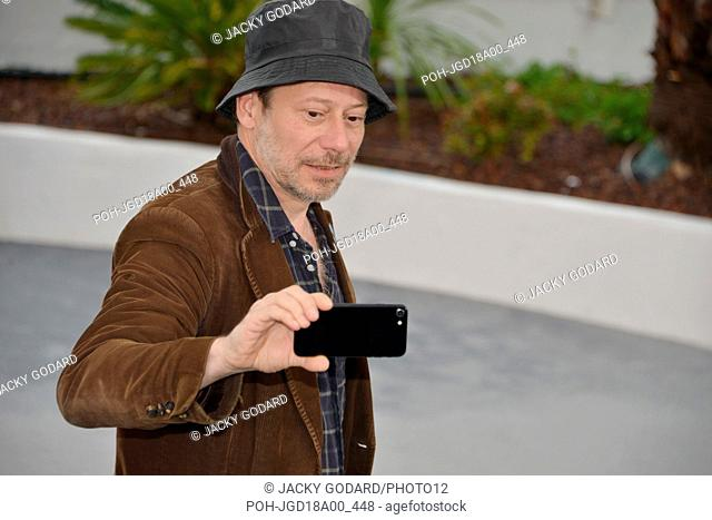 Mathieu Amalric Photocall of the film 'Le Grand Bain' (Sink or Swim) 71st Cannes Film Festival May 13, 2018 Photo Jacky Godard