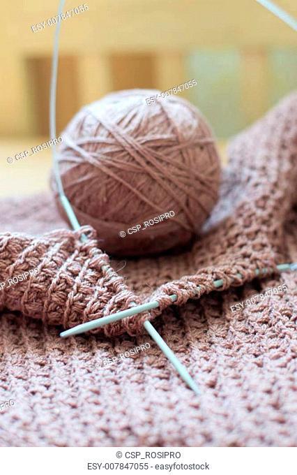 Woven handicraft knit sweater