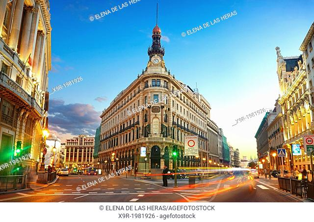 'Banco Español de Credito' headquarters building in Alcalá street, where the 'Canalejas proyect', with 5 star hotel, shopping center and appartments