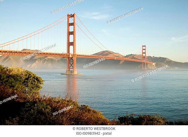 Golden Gate Bridge at sunrise, San Francisco, California, USA
