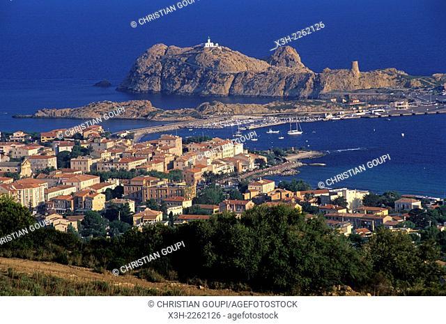 Ile-Rousse, coastal town of Balagne region, Haute-Corse department, Northern Corsica, France, Europe
