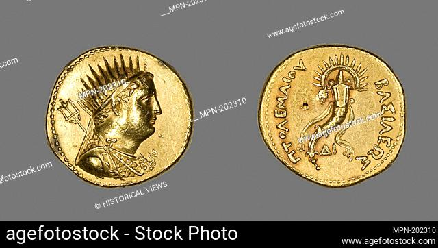 Octodrachm (Coin) Portraying King Ptolemy III Euergetes - Ptolemaic Period (221–205 BC), issued by King Ptolemy IV, reign of Ptolemy III Euergetes (247–222 BC)...