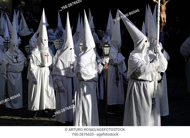 Good Friday procession in San Lorenzo de El Escorial, Madrid. Spain