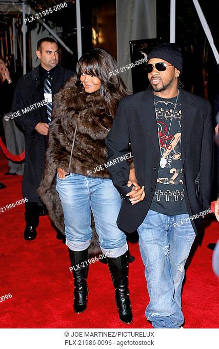 Ray Premiere Janet Jackson, Jermaine Dupri October 19, 2004 Photo by Joe Martinez