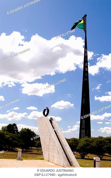 Pyre of the Homeland and Mast of the Flag of the National Pavilion, Distrito Federal, Brasília, Brazil