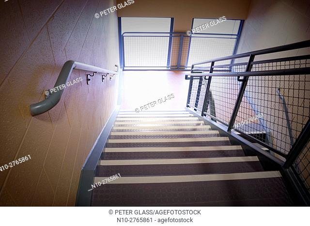 Empty stairs in a college