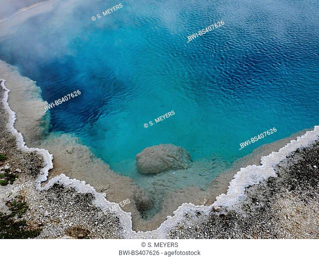 Themal springs and pools at West Thumb Geyser Basin, USA, Wyoming, Yellowstone National Park