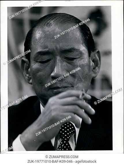 Oct. 10, 1977 - Japanese Foreign Minister Iichiro Hatoyama at the UN General Assembly (Credit Image: © Keystone Press Agency/Keystone USA via ZUMAPRESS